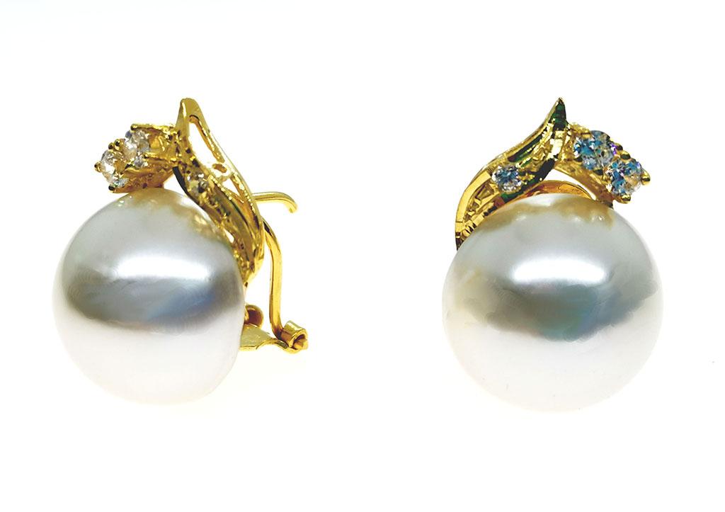 Pendientes cierre omega perla