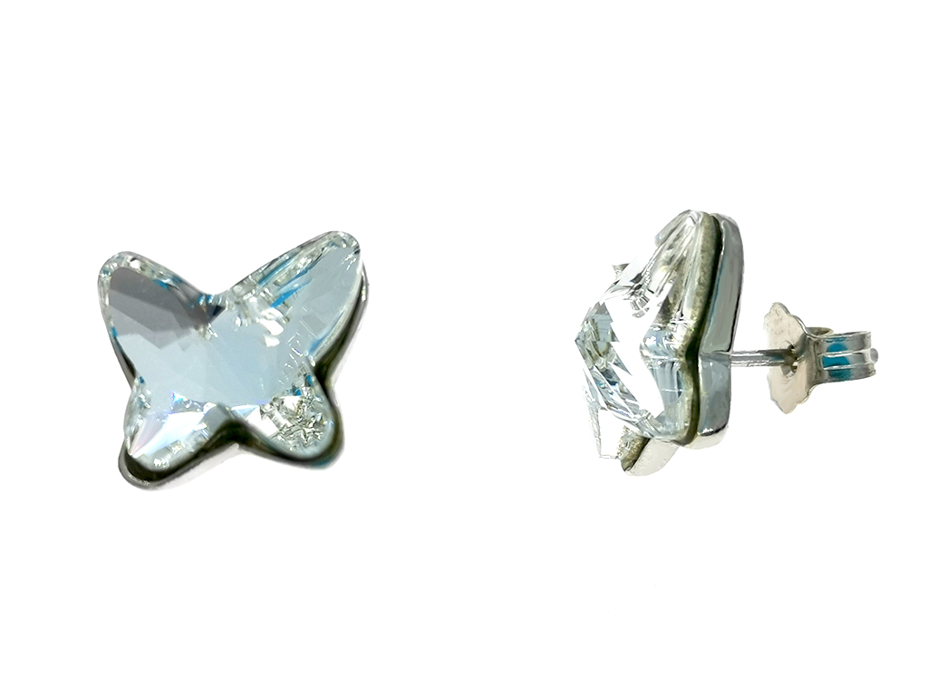 Pendientes mariposa plata Pretty Butterfly