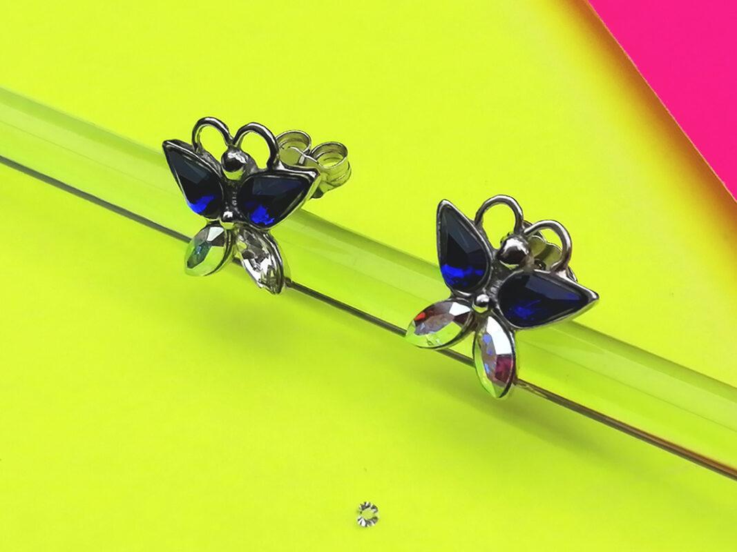Pendientes mariposa plata Butterfly