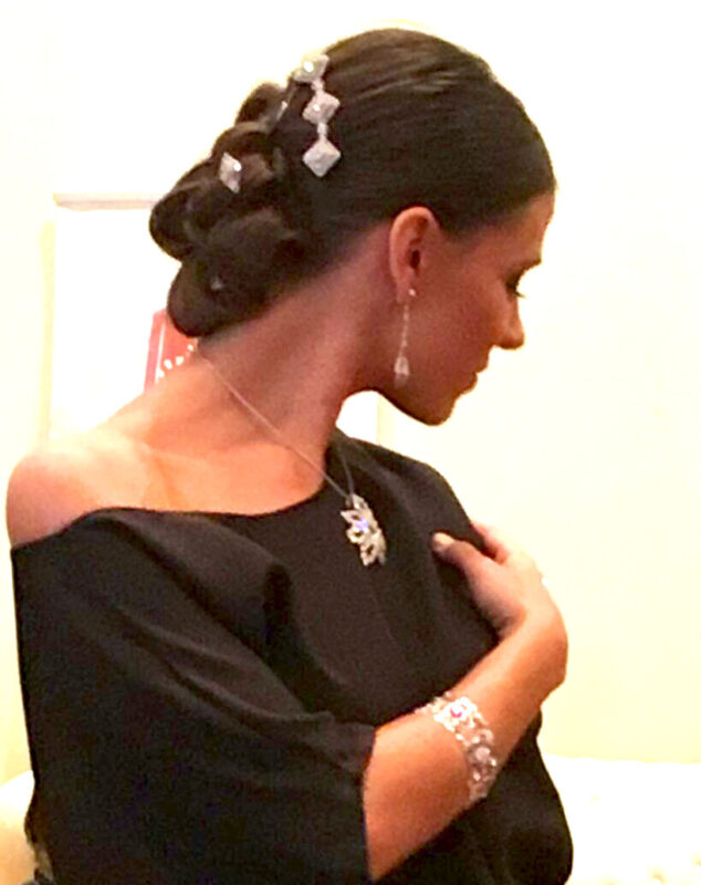 Pendientes novia filigrana plata Zinnia