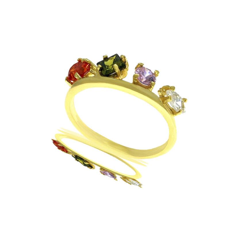 Anillo circonitas Crown