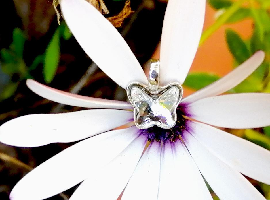 Colgante mariposa plata Pretty Butterfly