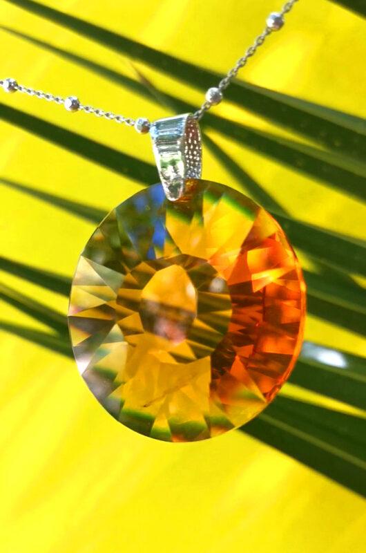 Colgante cristal Swarovski plata Sol