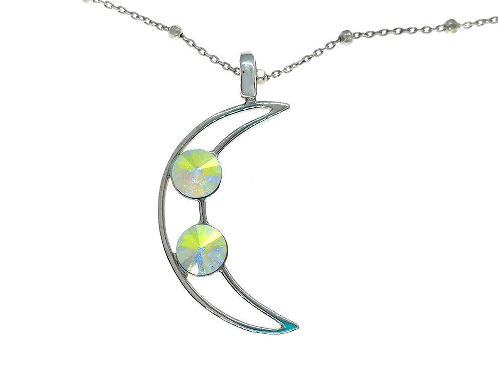 Colgante Luna Iris plata