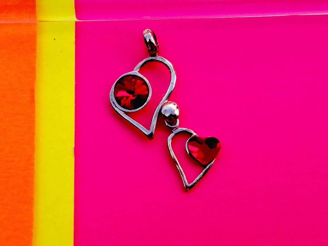 Corazón colgante plata Duo