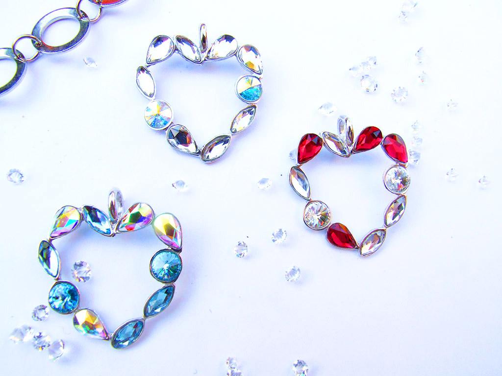 Colgante corazón plata Roche