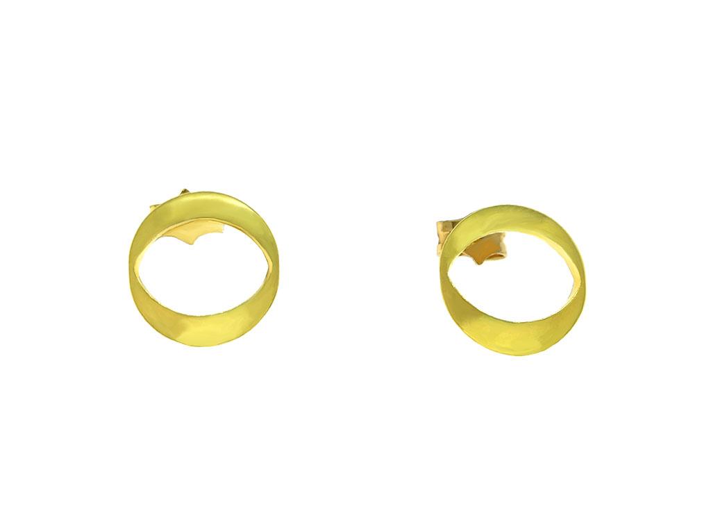 Pendientes dorados pequeños Aura