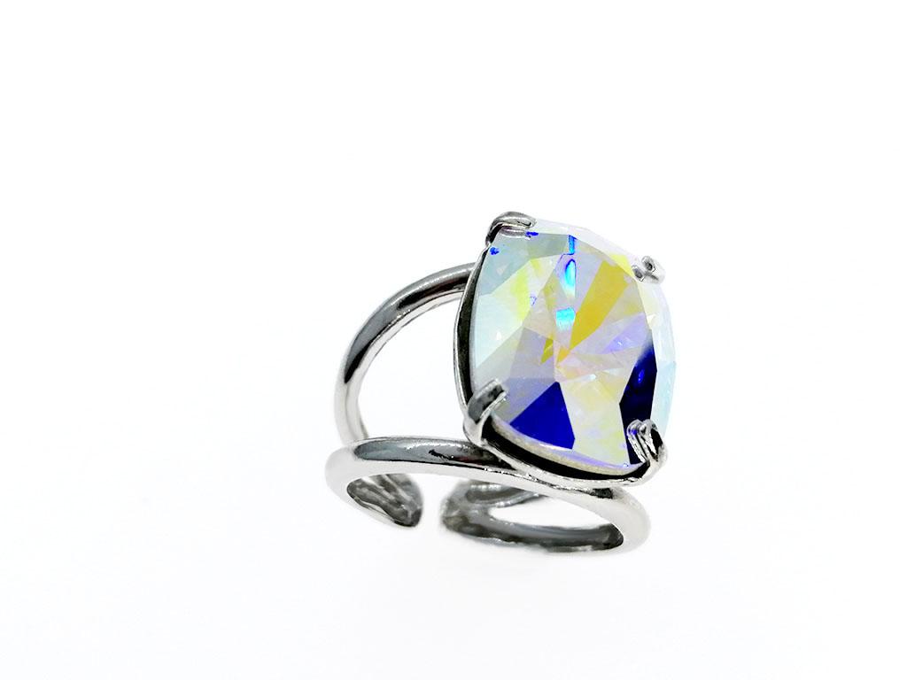 Anillo cristal plata Jews
